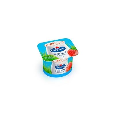 Йогурт 'Савушкин продукт' клубника 2%