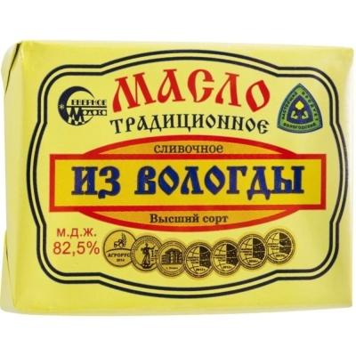 Масло 'Вологодское' 82,5% ГОСТ (с медалями)