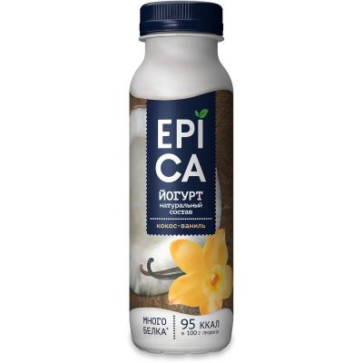 Йогурт питьевой 'EPICA' с КОКОСОМ и ВАНИЛЬЮ 3,6%