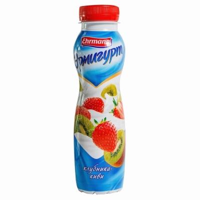 Напиток йогуртный 'Эрмигурт' с КЛУБНИКОЙ и КИВИ 1,2%