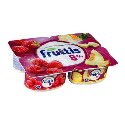 Продукт йогуртный Фруттис супер-экстра 8% малина, ананас-дыня ванночка
