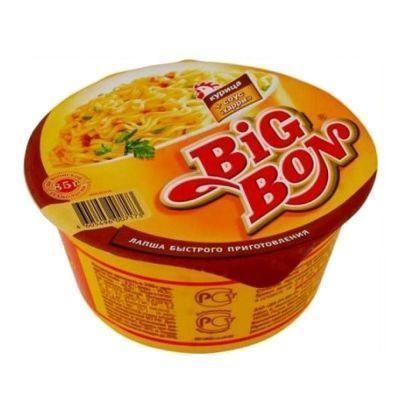 Лапша быстрого приготовления BIGBON курица+соус Карри тарелка
