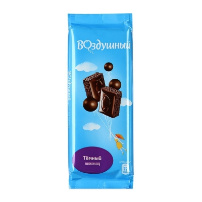 Шоколад Воздушный темный пористый