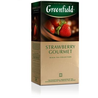 Чай Гринфилд Strawberry Gourmet (клубника) 25 пак.