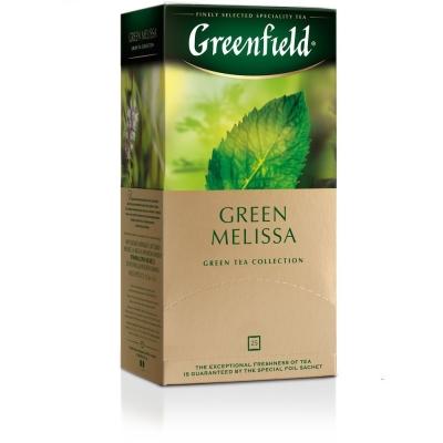 Чай Гринфилд Мелисса зелёный 25 пак.
