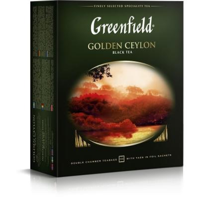 Чай Гринфилд Голден Цейлон (черный) 100 пак.