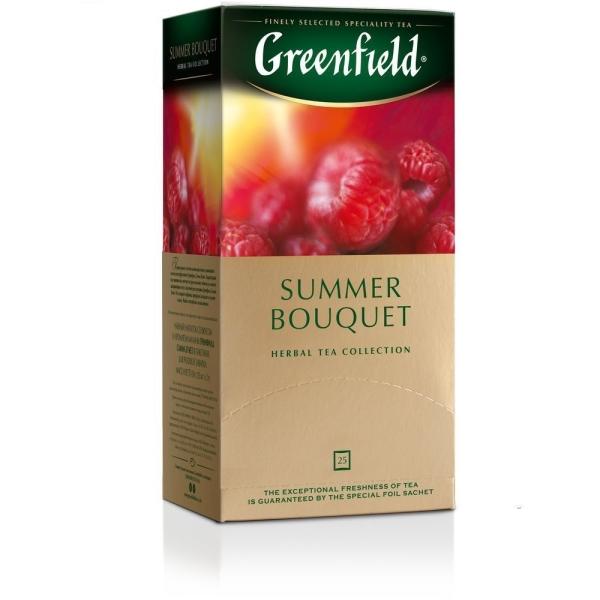 Чай Гринфилд Summer Bouquet (малина) 25 пак.
