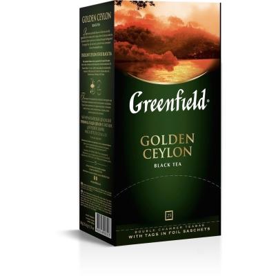 Чай Гринфилд Голден Цейлон (черный) 25 пак.