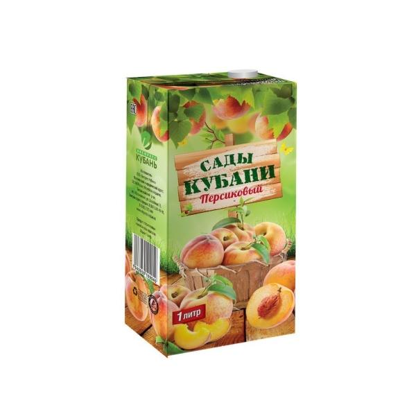 Сок Сады Кубани персик с крышкой