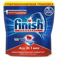 Средство для мытья посуды для посудомоечных машин Finish All in 1 MAX 100 табл