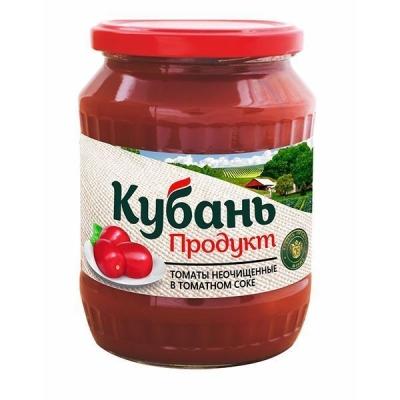 Томаты неочищенные 'Кубань Продукт' в томатном соке