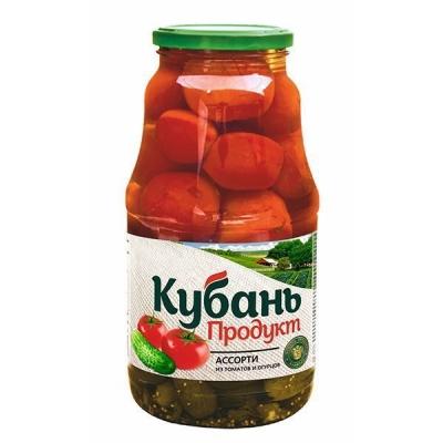 Ассорти маринованное 'Кубань Продукт' (томаты/огурцы)