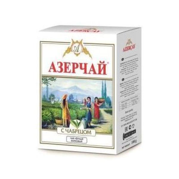 Чай черный Азерчай с чабрецом среднелистовой