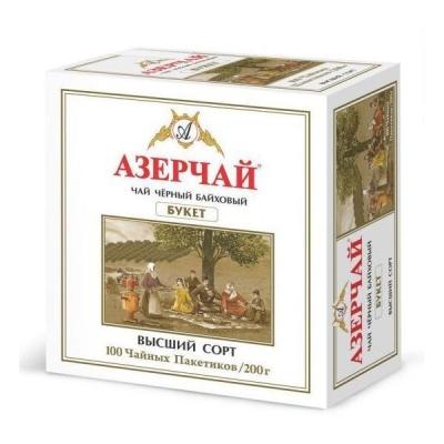 Чай черный Азерчай 'БУКЕТ' 100пак без конверта