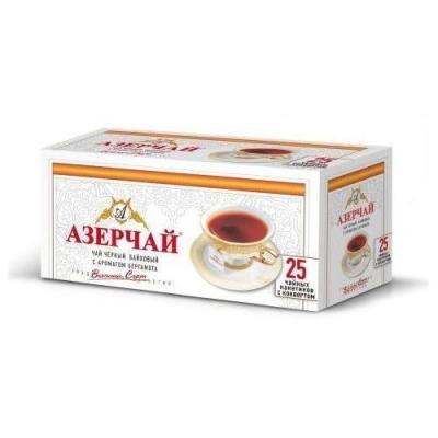 Чай черный с бергамотом Азерчай 25пак с конвертом