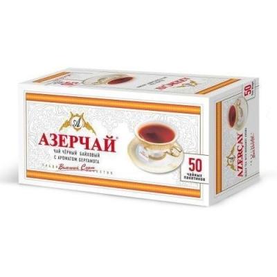 Чай черный с бергамотом Азерчай 50пак без конверта