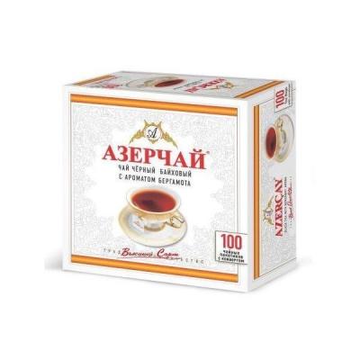 Чай черный с бергамотом Азерчай 100пак с конвертом