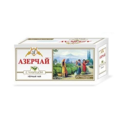 Чай черный с чабрецом Азерчай 25пак с конвертом
