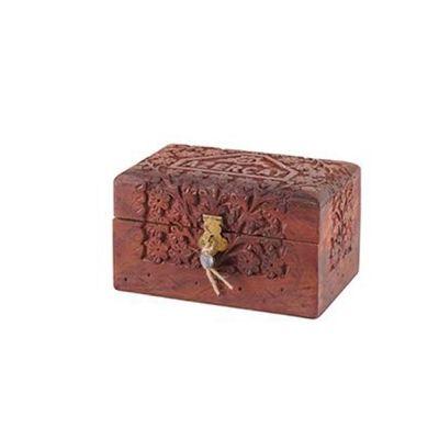 Чай черный Азерчай с чабрецом в деревянной шкатулке ручной работы