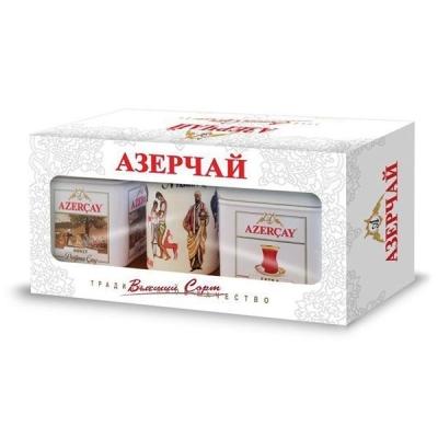 Подарочный набор (Чай черный Азерчай букет крупнолистовой + Чай черный Азерчай экстра среднелистовой + Кружка в подарок)