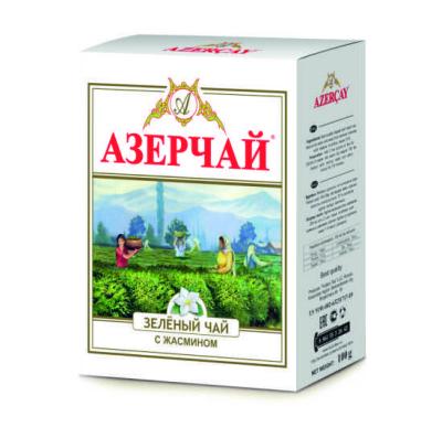 Чай зеленый Азерчай с жасмином