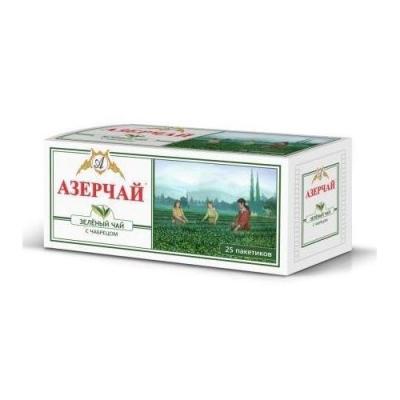 Чай зеленый Азерчай с чабрецом пакетированный 25пак с конвертом