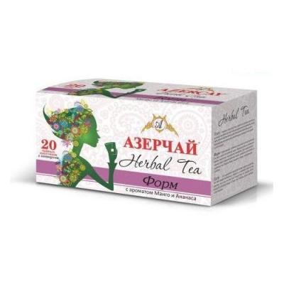 Чай травяной Азерчай 'Форм' с ароматом манго и ананаса 20пак с конвертом