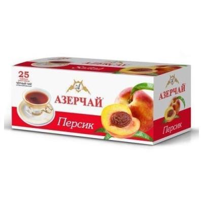 Чай черный расфасованный Азерчай персик 25пак с конвертом