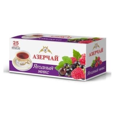 Чай черный расфасованный Азерчай ягодный 25пак с конвертом