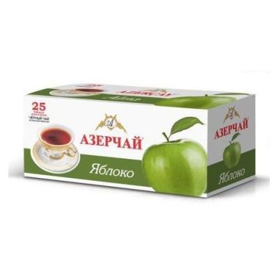Чай черный расфасованный Азерчай яблоко 25пак с конвертом
