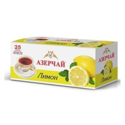 Чай черный расфасованный Азерчай лимон 25пак с конвертом