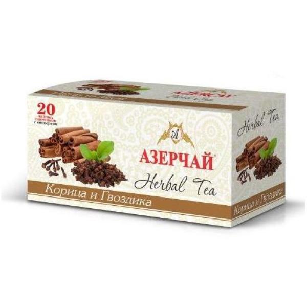 Чайный напиток расфасованный Азерчай корица и гвоздика 20пак