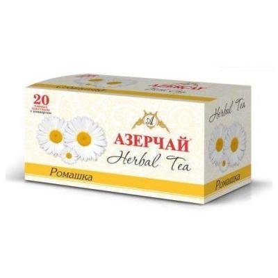 Чайный напиток расфасованный Азерчай ромашка 20пак