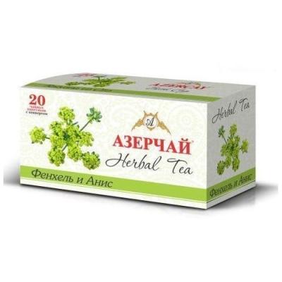 Чайный напиток расфасованный Азерчай фенхель и анис 20пак