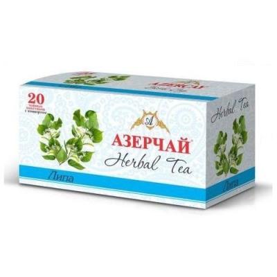 Чайный напиток расфасованный Азерчай липа 20пак