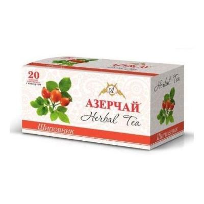 Чайный напиток расфасованный Азерчай шиповник 20пак