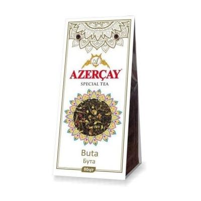 Чай черный Азерчай 'Бута' с букетом цветов и ароматом лимона и розы