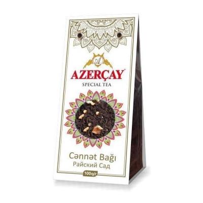 Чай черный Азерчай 'Райские сады' с яблоком и айвой