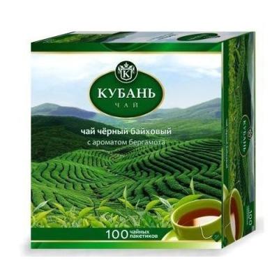 Чай черный 'Кубань' с бергамотом пакетированный 100пак