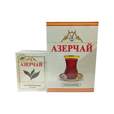 Чай черный Азерчай среднелистовой с ароматом бергамота (картонная упаковка) + гранулированный СТС в подарок