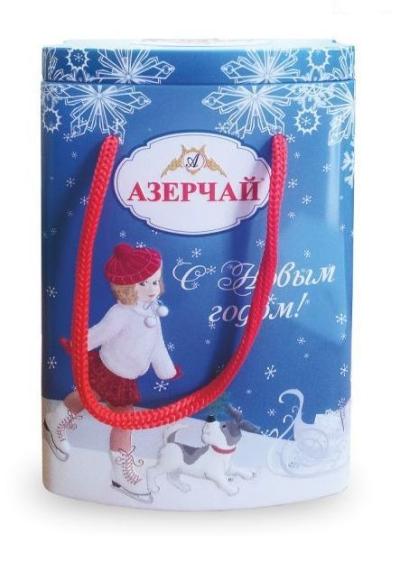 Чай зеленый 'Азерчай' с лепестками роз Девочка (синяя ж/б)