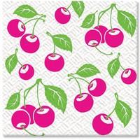 Салфетки Комфорт и семья 1-слойные 24*24, 100 штук, вишня
