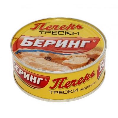 Печень трески БЕРИНГ натуральная ж/б