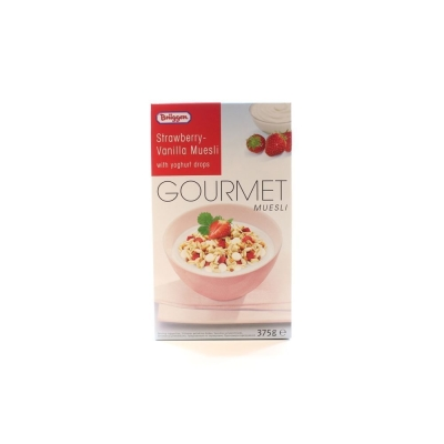 Мюсли хрустящие BRUGGEN Gourmet Jovita с йогуртом Клубника-Ваниль