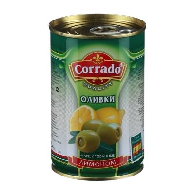 Оливки CORRADO фаршированные Лимоном ж/б