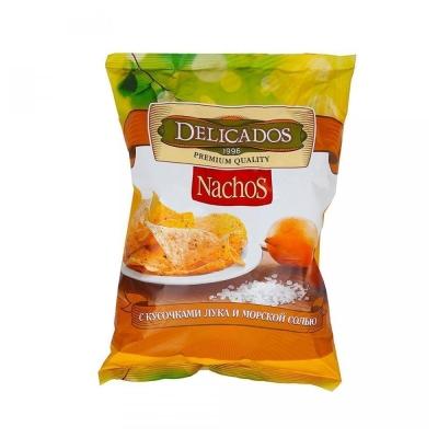 Чипсы кукурузные DELICADOS Nachos Лук морская соль