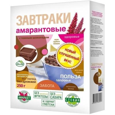 Завтраки DI&DI Амарант Темный шоколад со стевией