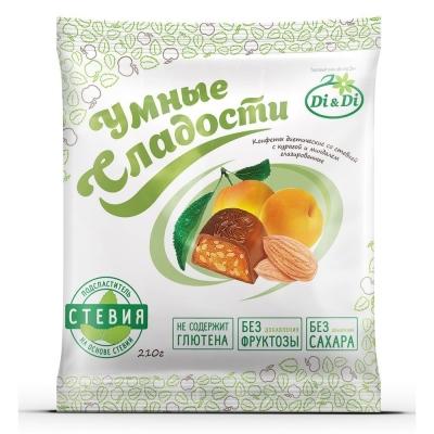 Конфеты DI&DI УМНЫЕ СЛАДОСТИ Курага Миндаль в шоколадной глазури