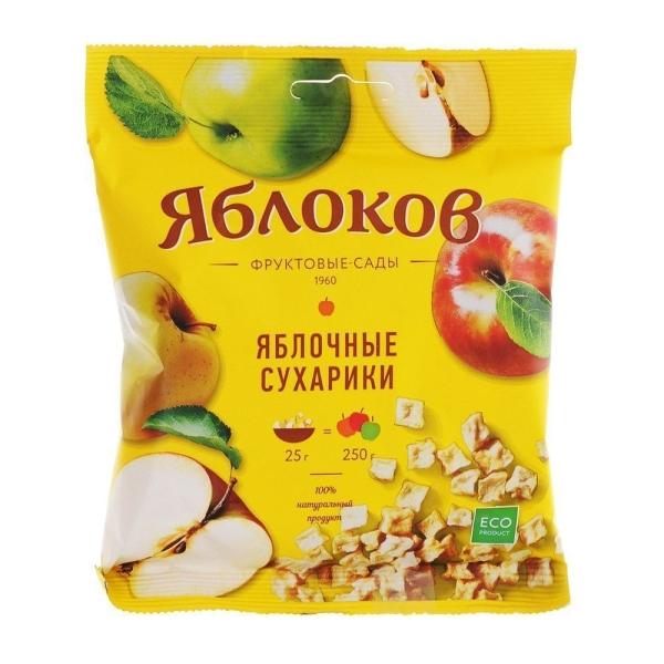 Сухарики яблочные ЯБЛОКОФФ Фрустики натуральные