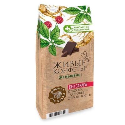 Шоколад горький Лакомства для здоровья с женьшенем